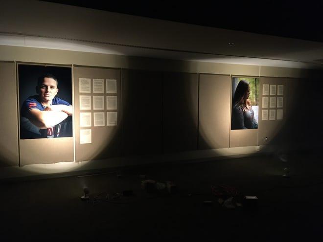"Scene from John Kennedy's ""Let us Now Listen"" exhibit at Pack Memorial Library in Asheville."