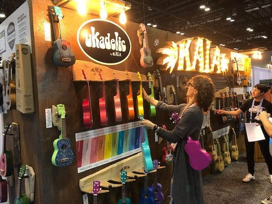 The Ukadelic booth at the 2020 Surf Expo shows it's much more than just surfing during the three-day event that attracts thousands of vendors and buyers.