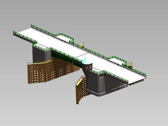 Digital rendering of Grand Isle Drawbridge construction plan. The bridge is expected to be completed by summer of 2022.