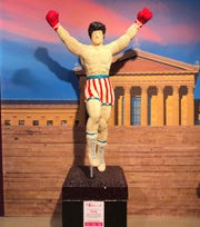 It doesn't get any more Philly than a Rocky statue made out of jellybeans.
