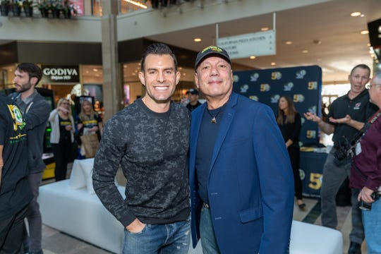 Hundreds came out to the Bridgewater Commons Mall Thursday to celebrate 50 years of the New Jersey Lottery. HGTV star of Kitchen Cousins and 2011 NJ Lottery millionaire, Timothy Boulous.