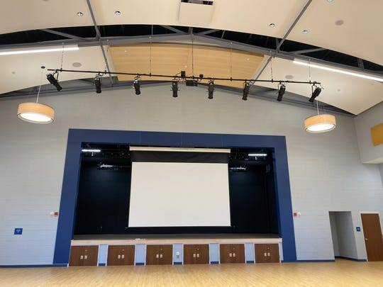 The new cafetorium at Dewitt D. Barlow Elementary School in Plainfield.