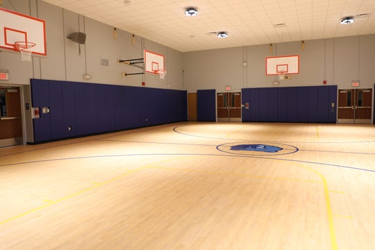 Inside the newly-renovated gymnasium at Dewitt D. Barlow Elementary School in Plainfield.