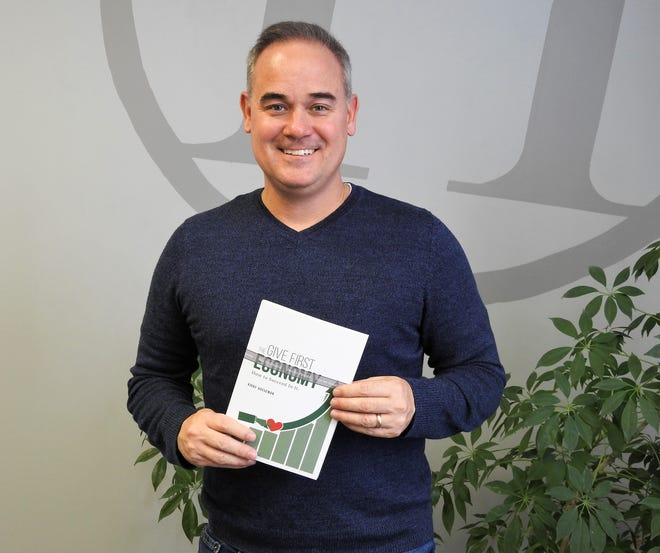"""Kirby Hasseman, owner of Hasseman Marketing and Communications, has released his fifth book, now available through Amazon. """"The Give First Economy"""" deals with giving before you get something in life and business, and how to implement the strategy."""