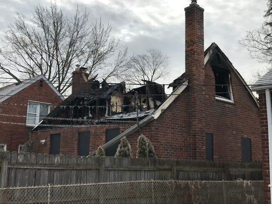 Fire damaged a house at 21135 Country Club in Harper Woods.
