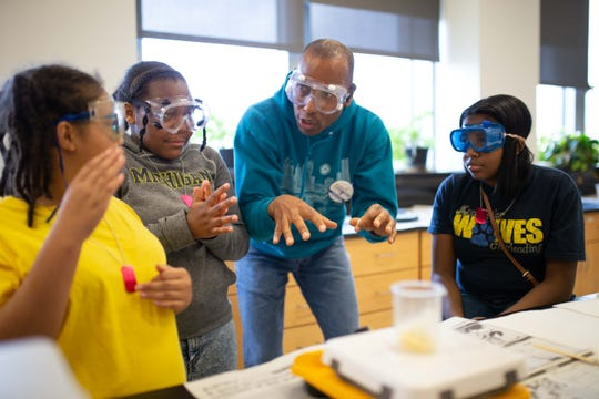 Students take part in the 2019 Digital Divas conference. The program, run at Eastern Michigan University, will expand its programming aimed at increasing females in STEM studies after receiving a $500,000 annual donation.