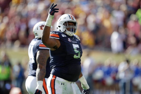 Auburn defensive tackle Derrick Brown could be an option for the Lions with their top pick in the NFL Draft.