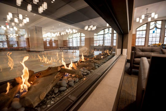 A double sided fireplace separates the Willis Ward lounge and the south lounge.