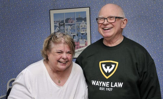 Yvonne and Kent Shafer of Bloomfield Township are thrilled with the results of their room makeover. Yvonne is the winner of this year's Detroit News Homestyle Section's Messiest Room Contest. A team of professional organizers from the NAPO-Michigan chapter spent the day Wednesday cleaning out and re-designing Shafer's guest room for her two young granddaughters.