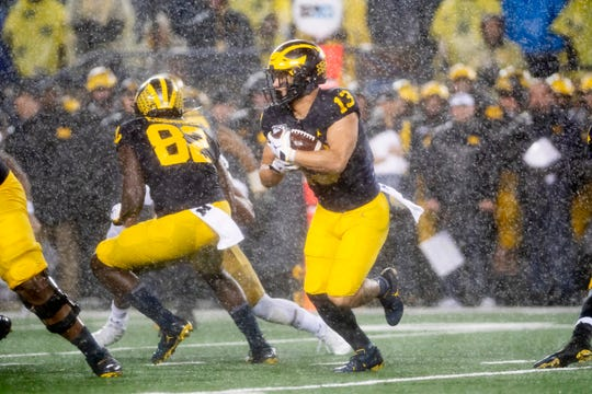 Running back Tru Wilson is leaving Michigan as a graduate transfer.