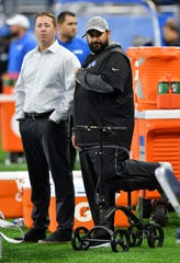 From left, Lions general manager Bob Quinn and head coach Matt Patricia will be back next season, with the mandate from ownership to emerge as a playoff contender.