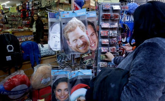 Royal souvenirs for sale in London on Thursday.