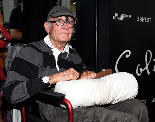 "Writer Buck Henry arrives to the premiere of Bleecker Street Media's ""Colette"" at Samuel Goldwyn Theater on Sept. 14, 2018, in Beverly Hills, Calif. The longtime actor/writer/director died Jan. 8, 2020 at age 89."