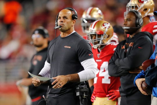 Robert Saleh and the 49ers face the Vikings in the NFC playoffs on Saturday.
