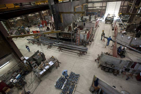 Pictured is one of J. F. Ahern Co.'s pipe fabrication shops. Pipe fabrication is one of the business' core offerings.