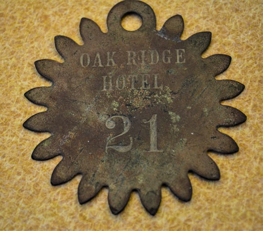 Thousands of people flocked to Green Springs in the 1800s to seek healing at the sulfur springs. Many of them stayed at the luxurious Oak Ridge Hotel. The Wilsons uncovered this key ring from the hotel during one of their searches.