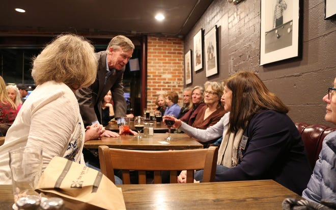 John Hickenlooper, the former Colorado governor vying for the Democratic nomination in Colorado's 2020 Senate race, speaks to attendees at a Fort Collins campaign event at Coopersmith's Pub and Brewing on Wednesday, Jan. 8, 2020.