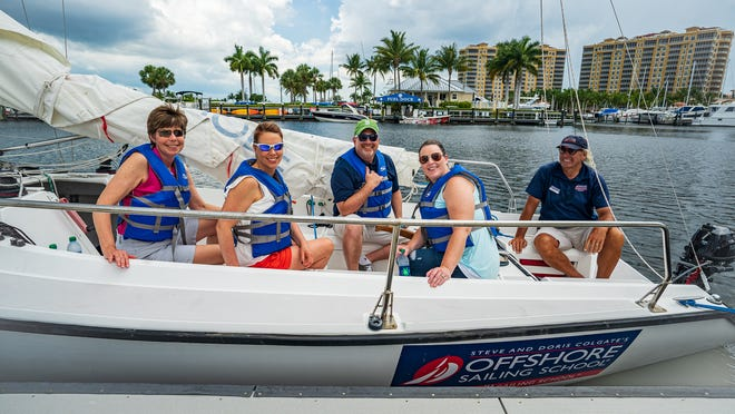 Students learn to sail with Offshore Sailing School and instructor Steve Huff from Westin Cape Coral Resort.