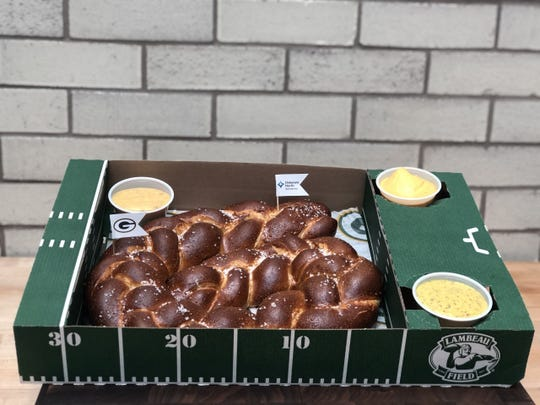 Franchise Pretzel is one of two new foods available at Lambeau Field for the Green Bay Packers divisional round playoff game.