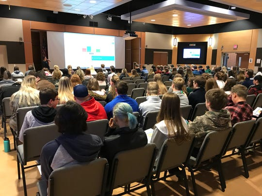 About 150 students from 13 area high schools attended Great Falls College MSU's College in a Day program on Thursday, learning the ins and outs of college life and taking condensed classes in their areas of interest.