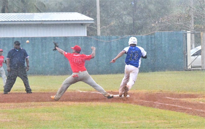 Action from the 3rd Micronesian Baseball Classic between Pohnpei and Kosrae Jan. 9 at the Paseo Stadium. Pohnpei won 7-4 to advance to the third-place game.