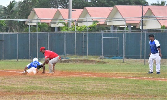Action from the 3rd Micronesian Baseball Classic between Pohnpei and Kosrae Jan. 9 at the Paseo Stadium.