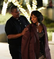 "Octavius Womack places his jacket on the shoulders of Marymarie, his second blind date dance partner, on episode one of FOX's ""Flirty Dancing,"" which aired on Dec. 29, 2019."