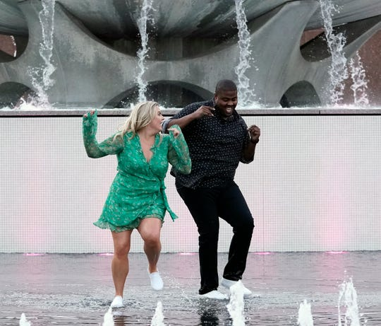 "Octavius Womack dances with Megan, his first blind date dance partner, on episode one of FOX's ""Flirty Dancing,"" which aired on Dec. 29, 2019."