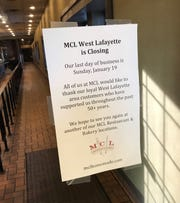 MCL Cafeteria, which opened in 1969 in West Lafayette, announced to customers on Wednesday that it would close on Jan. 19, 2020.