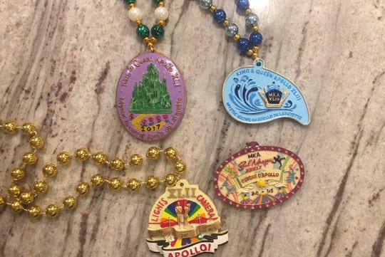 Krewe of Apollo creating one-of-a-king polymedallions every year. The beads come few and far between during the parade, best of luck. Mardi Gras throws are unique to every krewe. The history of throws gives way to unique medallions, edible catches, and eco-friendly gifts.