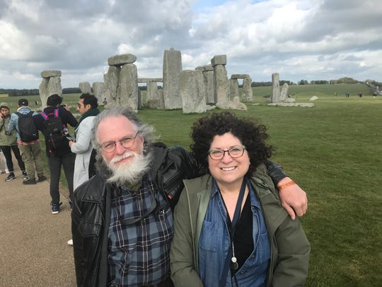 Outdoorsman Bob Gwizdz takes a break from hunting and fishing on a vacation with his wife, Judy Putnam, on a 2019 visit to England.