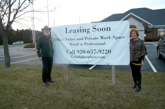 Roy and Tamara Lampsa have purchased the former Shoreline Hometown Credit Union site on Memorial Drive in Two Rivers and plan to convert it into a co-working business space called Great Lakes Plaza.