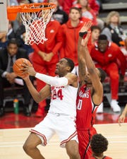 Andre Wesson of Ohio State goes in for a layup against Southeast Missouri State earlier this season.
