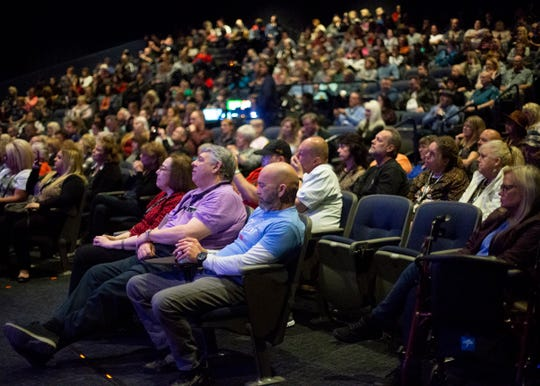 A packed the theater of The Guest House Hotel at Graceland to listen Priscilla Presley and Jerry Schilling share memories about their time with Elvis on Thursday Jan. 9 2020.