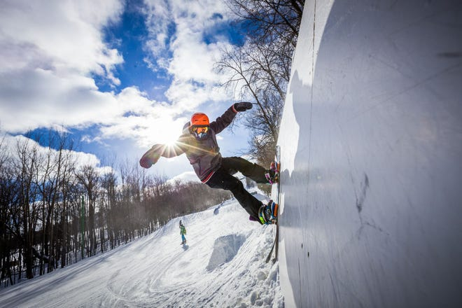 Granite Peak is just one of the many areas where snowboarders can catch some big air or take it easy with smaller jumps.