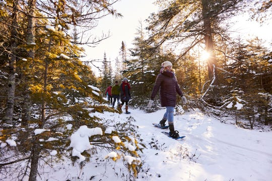 Experience guided snowshoeing at the Ridges Sanctuary, with 1,600 acres of beauty to enjoy.