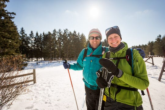 Wisconsin is a dream land for cross-country skiers.