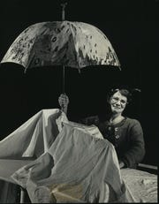 "Flora Coker portrayed Winnie in Theatre X's 1987  production of Samuel Beckett's ""Happy Days."""