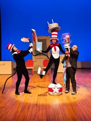 Jeremy Sapadin, Vivienne Claire Luthin and John Cencio Burgos in a scene from Alabama Shakespeare Festival's presentation of Dr. Seuss's The Cat in the Hat, which runs Saturday from January 11–25, 2020.
