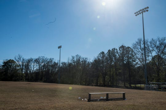The practice field Carlton Spivey uses in Phenix City, Ala., on Tuesday, Jan. 7, 2020.