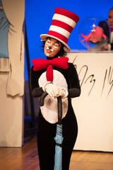 Vivienne Claire Luthin plays the Cat in the Hat in a scene from Alabama Shakespeare Festival's presentation of Dr. Seuss's The Cat in the Hat, which runs Saturday from January 11–25, 2020.