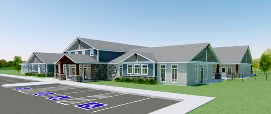 A rendering of the entrance for the Old Friends Senior Dog Sanctuary being built on Nonaville Road in Mt. Juliet.