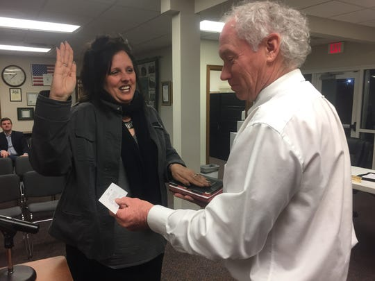 Jude Hampshire was the second of nine applicants chosen to fill a vacant Pataskala City Council seat on Jan. 8.