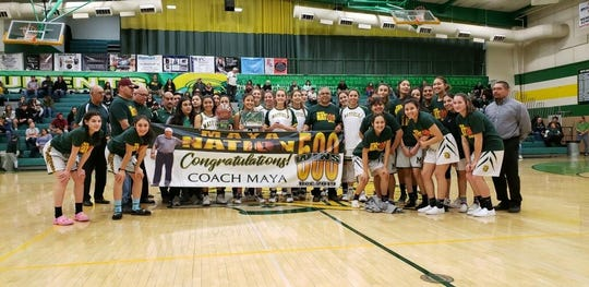 Mayfield girls basketball coach George Maya reached 500 wins this season.