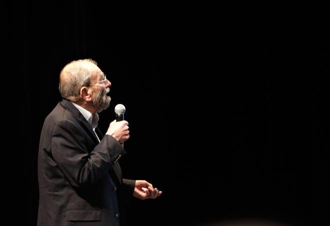 New Mexico State University economist Jim Peach speaks, Wednesday, Jan. 8, 2020, during the Northwest Regional Economic Outlook Forum at San Juan College in Farmington.