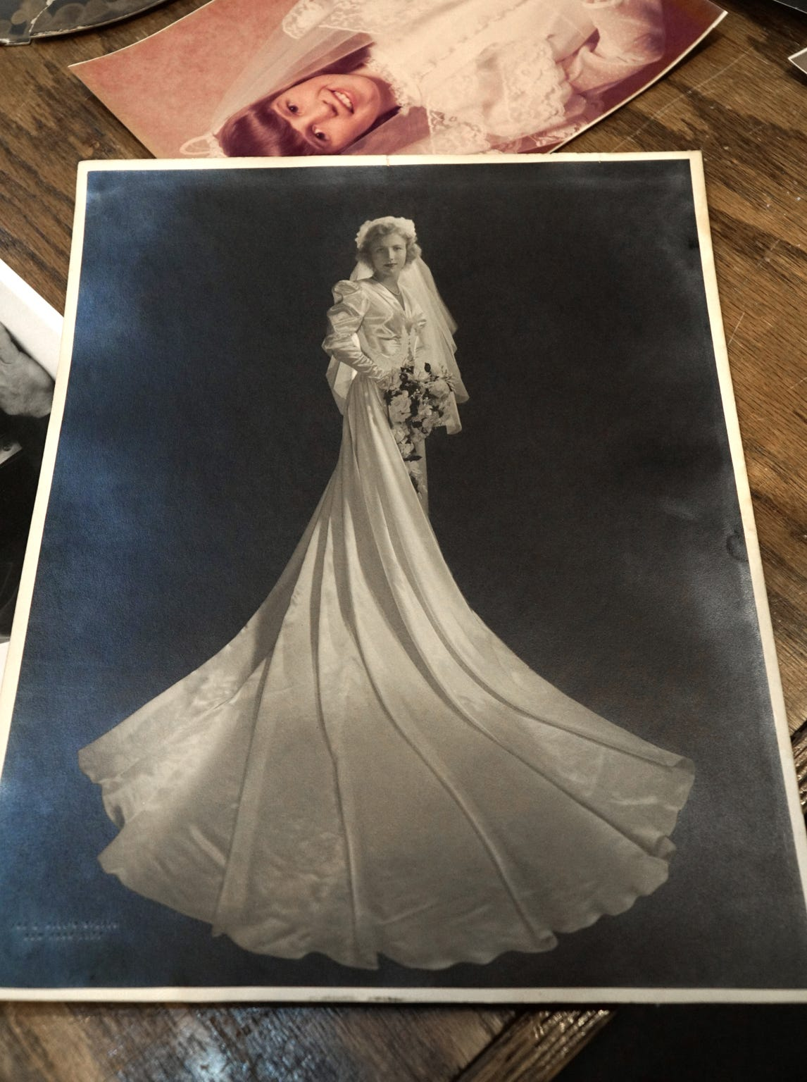 This bridal portrait is Eckley's favorite of all those left over the years at Frame Works.