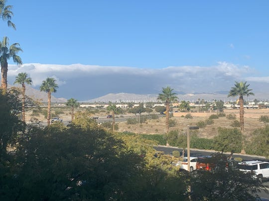 Clouds enter the Coachella Valley Thursday, Jan. 9, 2020. Weather experts say a small storm was expected to drop light amounts of rain on the desert beginning in the afternoon.