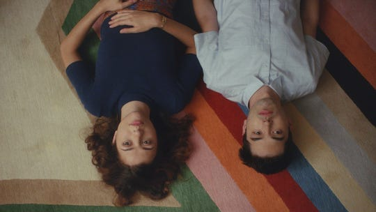 """Katie Findlay (left) and James Sweeney (right) in """"Straight Up."""" The film will be screened on Friday and Saturday at the Palm Springs International Film Festival in Palm Springs, Calif."""