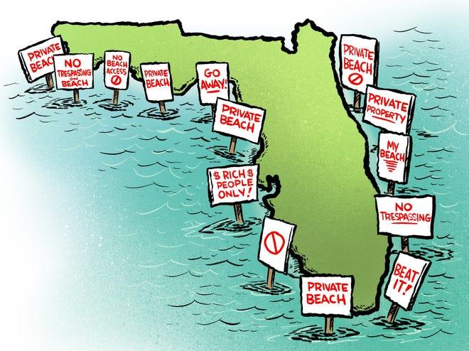 Florida public beach access is under assault.