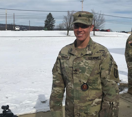 Pa. National Guard Sgt. Danielle Farber. Farber is one of the few women to complete U.S. Army Ranger School.